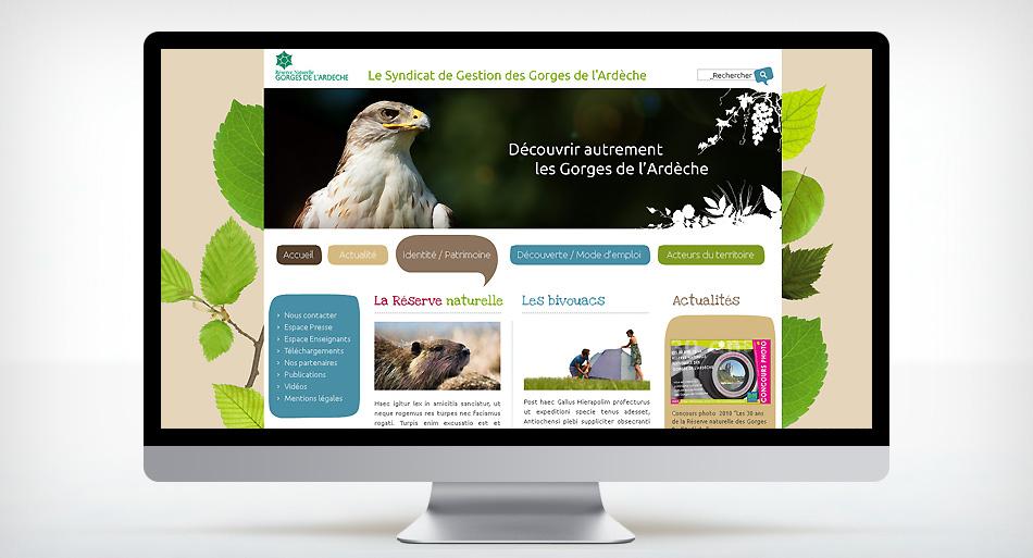 Les gorges de l'Ardèche - Refonte site internet