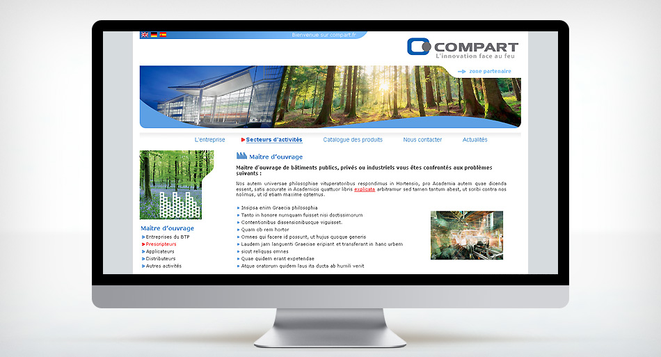 Compart - Design du site internet et animation Flash