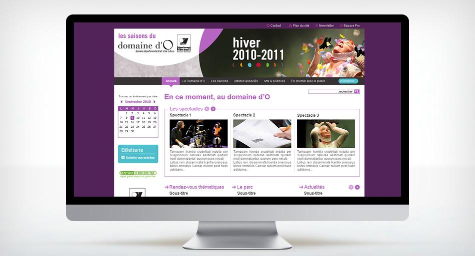 Domaine d'O, refonte graphique du site internet