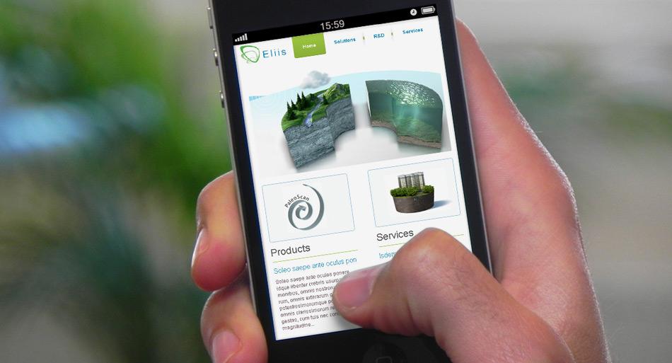 Webdesign et illustration pour Eliis