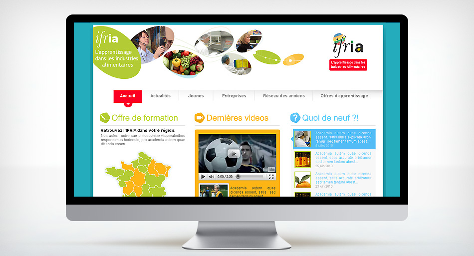 IFRIA, graphisme site internet, flash et illustration