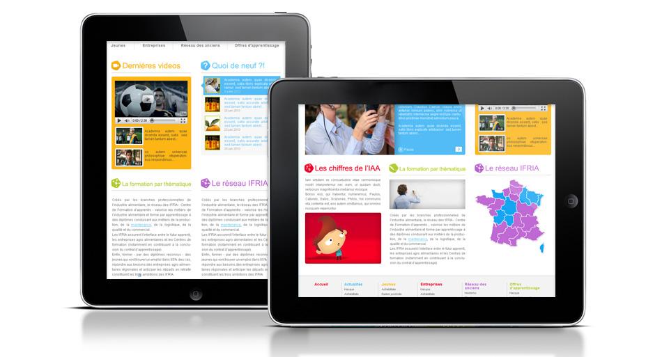 IFRIA, graphisme site internet, flash et illustration
