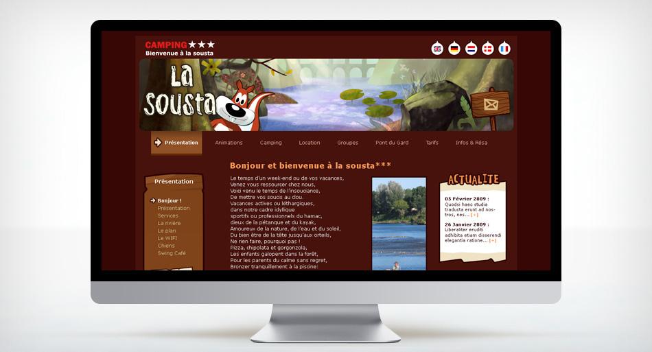 La Sousta - Graphisme site internet et charte graphique