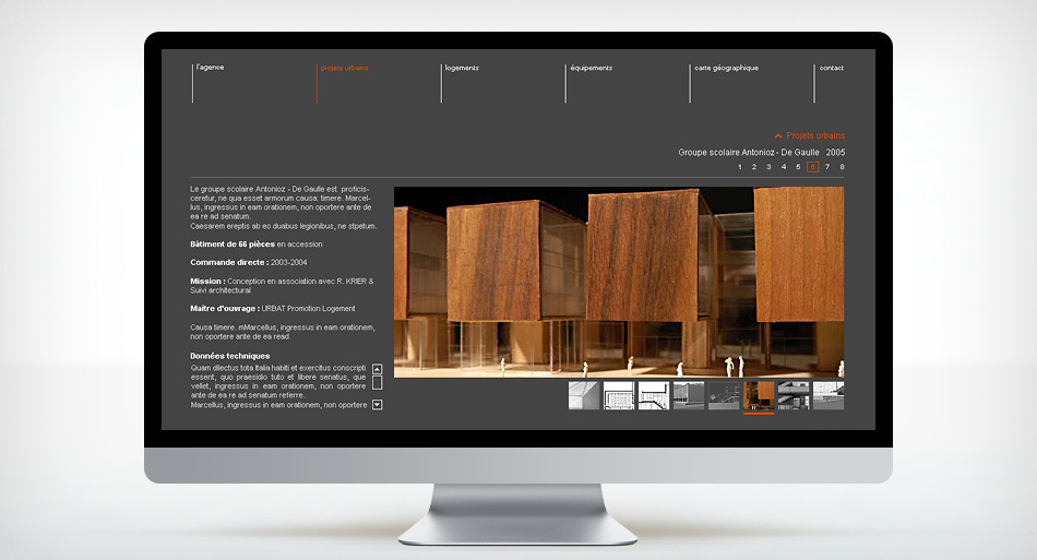 Lebunetel Architectes – Design site internet