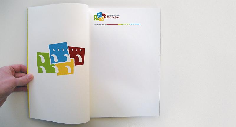 Charte graphique de l'office de tourisme du Pont du Gard